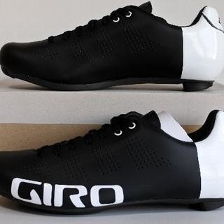 ジロ(GIRO)の★ Giro ジロ エンパイア ACC EU42.5 黒白 EASTONカーボン(ウエア)