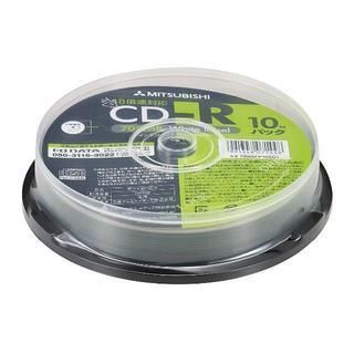 三菱ケミカルメディア Verbatim 1回記録用 CD-R SR80SP10V(DVDプレーヤー)