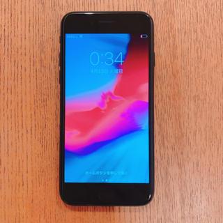 アイフォーン(iPhone)のiPhone 7 Jet Black 128 GB au(スマートフォン本体)