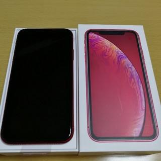 新品 iPhone XR レッド SIMロック完全解除済み 64GB au(スマートフォン本体)