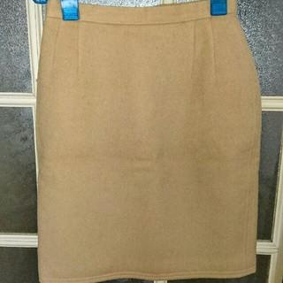 ハナエモリ(HANAE MORI)のVIVID BOUTIQUE ベージュウール タイトスカート(ひざ丈スカート)
