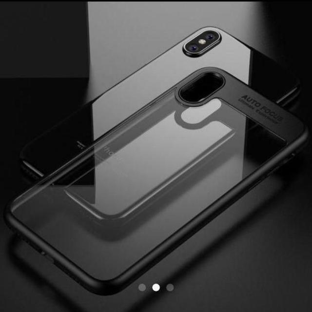 Apple(アップル)のiphonex 10 ケース カバー クリア TPU PC 黒 スマホ/家電/カメラのスマホアクセサリー(iPhoneケース)の商品写真