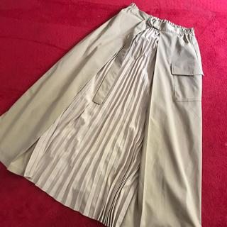 シマムラ(しまむら)のベージュのチュールスカート(ロングスカート)
