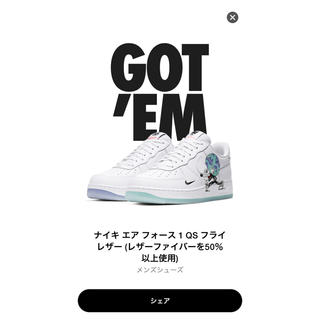 ナイキ(NIKE)のNIKE AIR FORCE1 EARTH DAY(スニーカー)