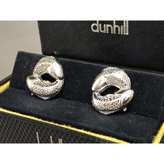 Dunhill(ダンヒル)の激レア ダンヒル 錦鯉 SV925 カフス カフリンクス メンズのファッション小物(カフリンクス)の商品写真