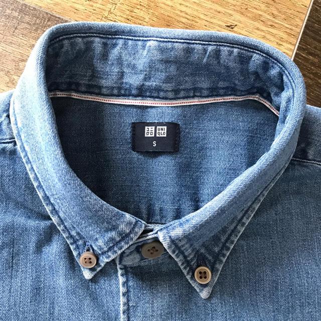 UNIQLO(ユニクロ)のUNIQLO デニムシャツ MENS 着用試着一回のみ メンズのトップス(シャツ)の商品写真