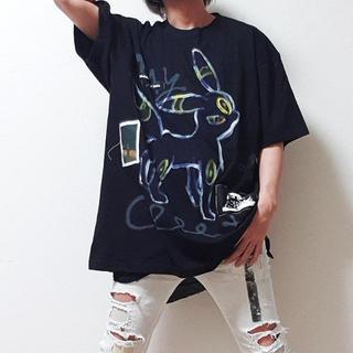 ルグランブルー(LGB)のguernika ゲルニカ ビッグ Tシャツ ブラッキー ポケモン(Tシャツ/カットソー(半袖/袖なし))