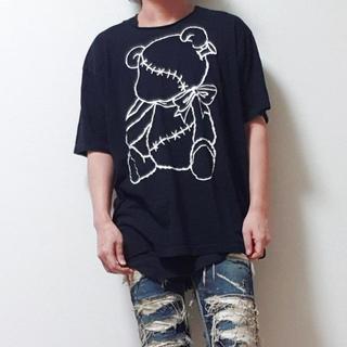 バッファローボブス(BUFFALO BOBS)のWRouge ルージュ ビッグ Tシャツ クマ(Tシャツ/カットソー(半袖/袖なし))