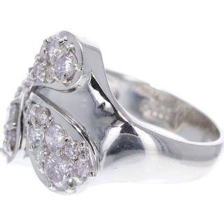 ピンクダイヤモンド 1.112ct Pt900 プラチナ リング(リング(指輪))