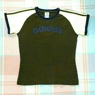 アディダス(adidas)のadidas Tシャツ カーキ×ベージュ×ネイビー(Tシャツ(半袖/袖なし))