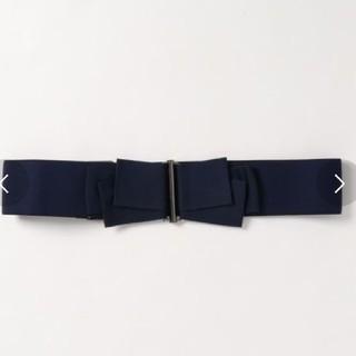 ランバンオンブルー(LANVIN en Bleu)のランバンオンブルー ゴムベルト クロ 美品(ベルト)