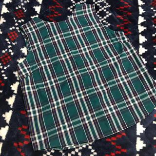 ジーユー(GU)の新品✩GU✩チェックノースリーブブラウス✩LL(シャツ/ブラウス(半袖/袖なし))