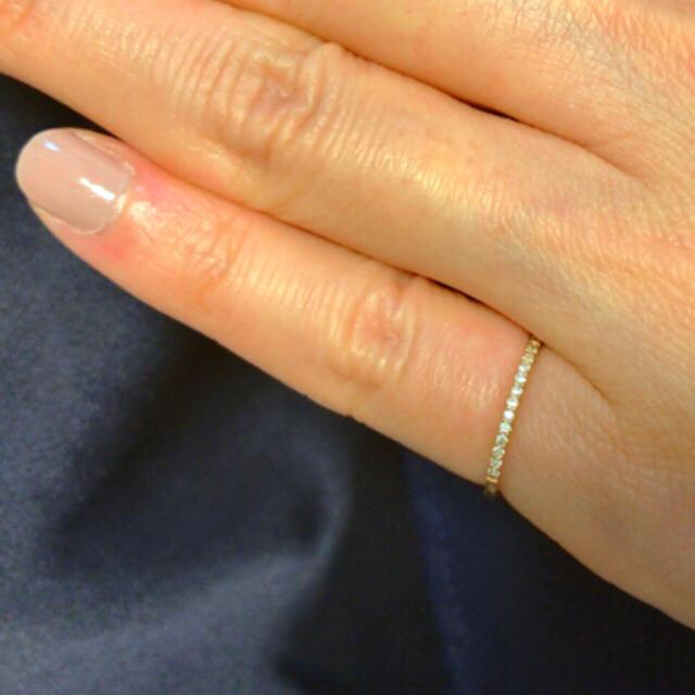 agete(アガット)のアガット  ダイヤ ハーフエタニティ ピンキー リング レディースのアクセサリー(リング(指輪))の商品写真