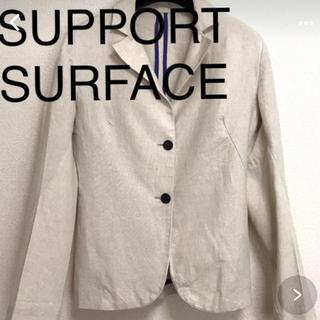 エディション(Edition)のSUPPORT SURFACE 麻ジャケット(テーラードジャケット)