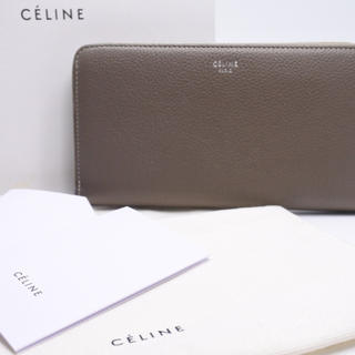 ee7653a5a67d セリーヌ(celine)のセリーヌ 長財布 ラウンドファスナー 中古 美品 イエロー グレージュ 箱