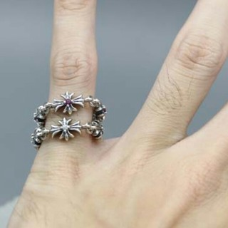 クロムハーツ(Chrome Hearts)の美品 レディース (指輪) Chrome Heartクロムハーツリング(リング(指輪))