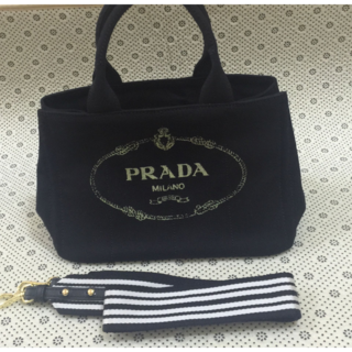 de0c199b2c17 PRADA - プラダ カナパ トートバッグ デニム美品の通販|ラクマ