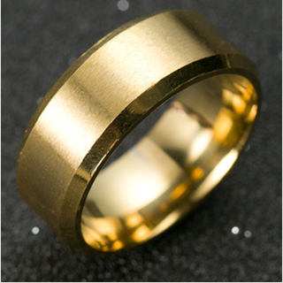 チタンブラックリング (ゴールド) (リング(指輪))