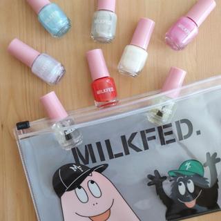 ミルクフェド(MILKFED.)のミルクフェド 特製 ネイルセット 8種類 & バーバパパコラボポーチ (マニキュア)
