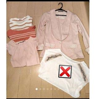 エイチアンドエム(H&M)の春服 ジャケット ニット二点(セット/コーデ)