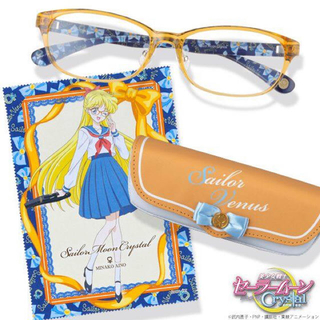セーラームーン(セーラームーン)の【新品未使用】セーラームーンJINS 眼鏡 メガネ セーラーヴィーナスモデル(サングラス/メガネ)