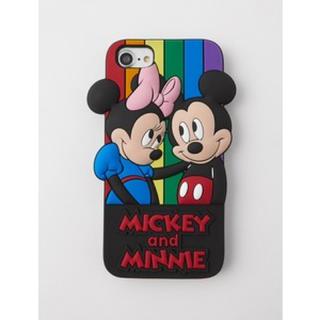 マウジー(moussy)のミッキー マウジー iPhoneケース ディズニー(iPhoneケース)