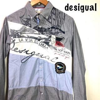 デシグアル(DESIGUAL)のデシグアル desigual  切り替え シャツ 背面バイカラー Sサイズ(シャツ)