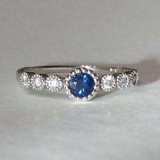 サファイア ダイヤモンド k18 リング(リング(指輪))