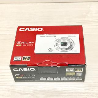 カシオ(CASIO)の【展示品】 CASIO デジカメ EXILIM EX-ZR70YW (コンパクトデジタルカメラ)