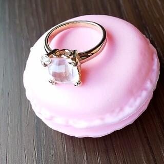 ローズクオーツ ダイヤモンド リング「フダムール 」定価9万円超 現行品 (リング(指輪))