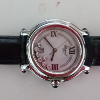 ショパール(Chopard)のハッピースポーツ 腕時計ショパール  7Pダイヤ クォーツ 本物保証書あり(腕時計)