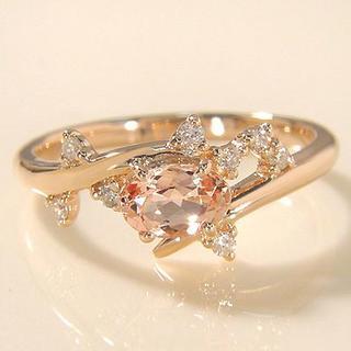 お値下 インペリアルトパーズ ダイヤ リング 「スプマーレ」 現行品 K18YG(リング(指輪))