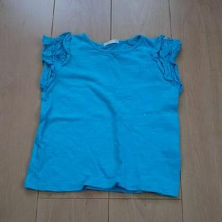 ジーユー(GU)の女の子 ラインストーンTシャツ 110cm(Tシャツ/カットソー)