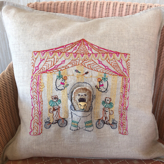H.P.FRANCE - coral&tusk Circus  tent pocket  Pillow