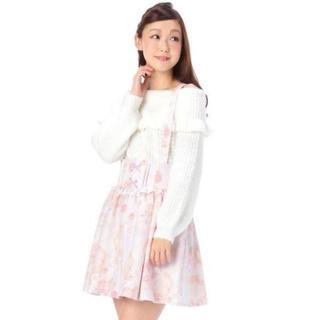 リズリサ(LIZ LISA)のLIZ LISA☆新品♪サス付き*2wayメルヘン花柄フリルフレアスカート(ひざ丈スカート)