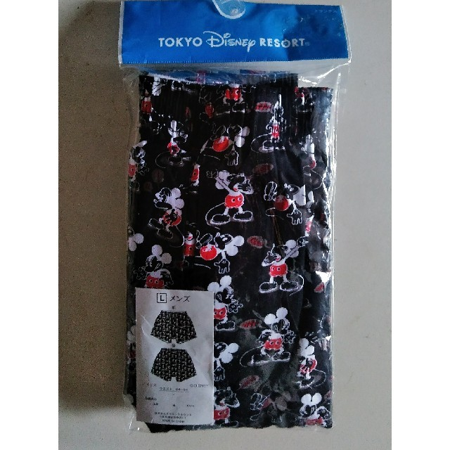 Disney(ディズニー)のTokyo DIsney Results🎶ミッキー紳士トランクス Lサイズ メンズのアンダーウェア(トランクス)の商品写真