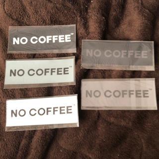 NO COFFEE ステッカー5枚セット(しおり/ステッカー)