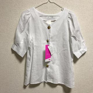シマムラ(しまむら)のMサイズ フロントボタン ブラウス(シャツ/ブラウス(半袖/袖なし))