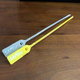 SAPEur サプール タグ 黄グレー2本セット スニーカー用(スニーカー)