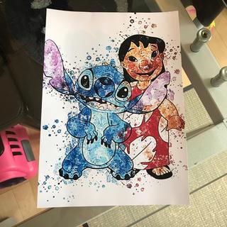 ディズニー(Disney)のスティッチ アート ポスター アメリカ(ポスター)