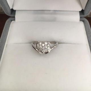 トレセンテ ダイヤモンド リング K18WG 0.15ct 3.7g(リング(指輪))