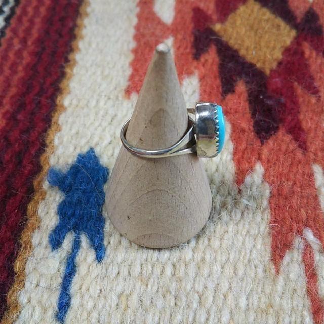 Indian(インディアン)のインディアンジュエリー ナバホ族 J STERLING ターコイズシルバーリング レディースのアクセサリー(リング(指輪))の商品写真