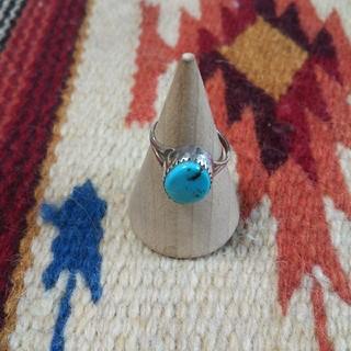 インディアン(Indian)のインディアンジュエリー ナバホ族 J STERLING ターコイズシルバーリング(リング(指輪))