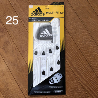 アディダス(adidas)の新品未使用  adidas ゴルフグローブ  メンズ 左手用 25㌢(ゴルフ)