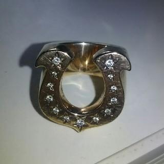 テンダーロイン(TENDERLOIN)のテンダーロイン ホースシューリング 8K ダイヤ 13号 (リング(指輪))