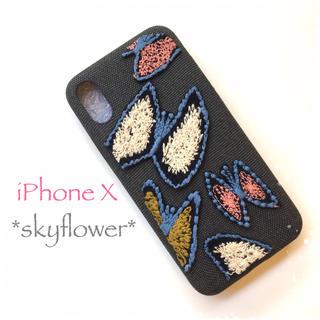ミナペルホネン(mina perhonen)のskyflower*iPhoneX*(スマホケース)
