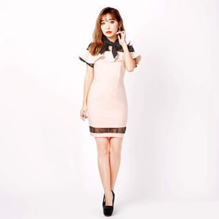b4ded5ae845be デイジーストア(dazzy store)の未使用♡バイカラーフリルハイネックミニタイトドレス