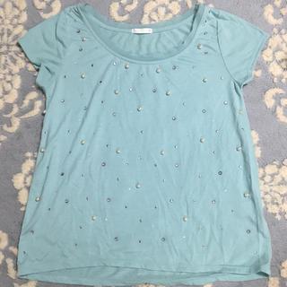 ジーユー(GU)のGU ビジュー トップス(Tシャツ(半袖/袖なし))