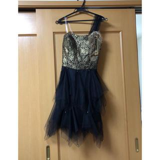 ブラック チュールドレス (ミディアムドレス)