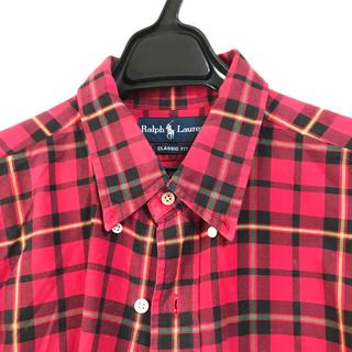 b9282f3cd2c5b ラルフローレン(Ralph Lauren)の赤チェックのシャツワンピース♡(ミニワンピース